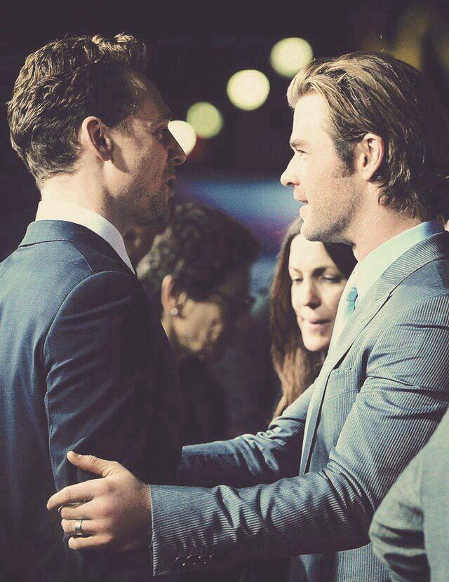 Tom Hiddleston and Chris Hemsworth | Guys | Pinterest