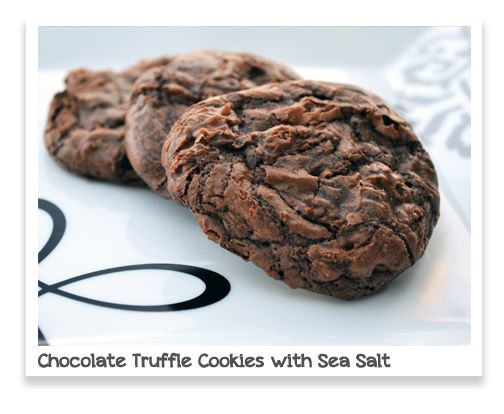 Chocolate Truffle Cookies with Sea Salt | Dessert - Cookies | Pintere ...