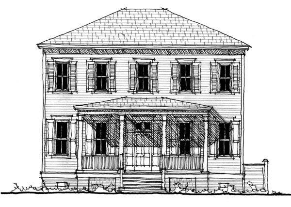 Historic Southern House Plan 73717