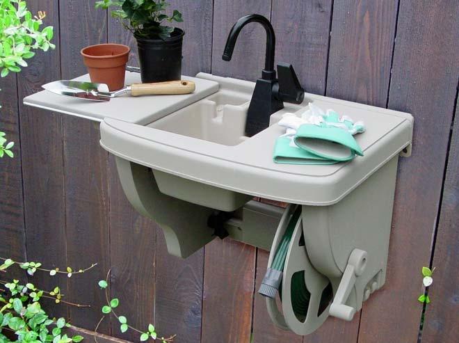 Outdoor sink outdoor living pinterest