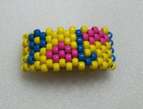 Kandi Cuff Bracelet Saying PLUR with Cute Hearts