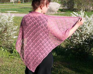 Arteeni: Lehmus free knit lace shawl pattern wrap
