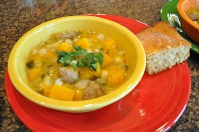 Spicy Turkey Chili Verde with Hominy and Squash. It'll knock your ...