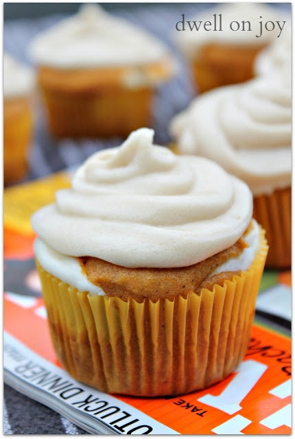 Pumpkin Cheesecake Cupcakes for the Lonely Hearts Club