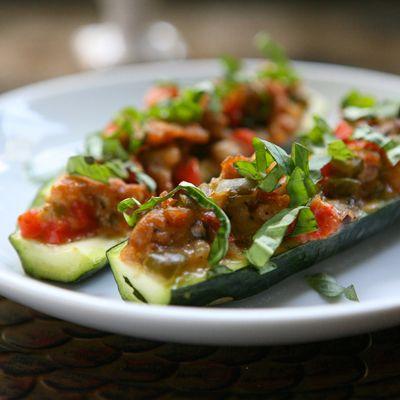 Italian Stuffed Zucchini Boats   Veggies Galore   Pinterest