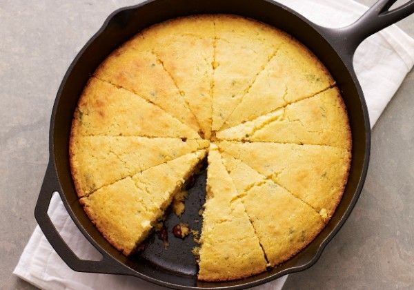 Skillet Cornbread with Dried Cranberries and Sage