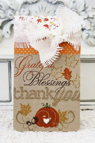 Autumnal Thank You Card by Melissa Phillips for Papertrey Ink (August 2013)
