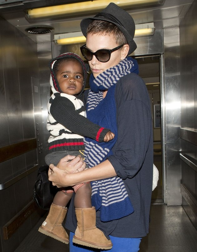 Charlize Theron's son Jackson, too cute   hollywood ... Charlize Theron Son