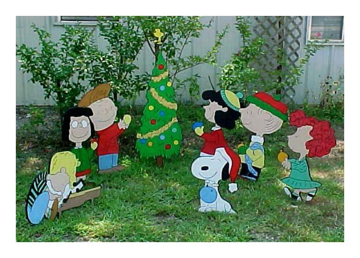 Wooden charlie brown christmas yard decorations patterns for Holiday yard decorations patterns
