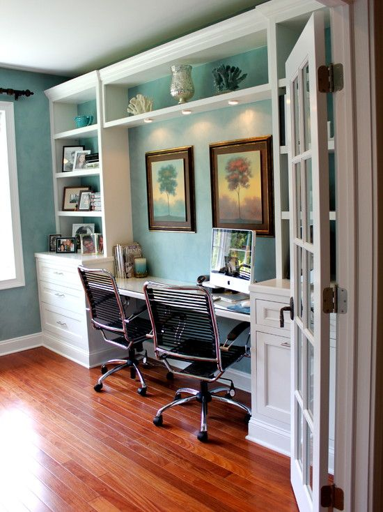 Built In Home Office Home Office Pinterest