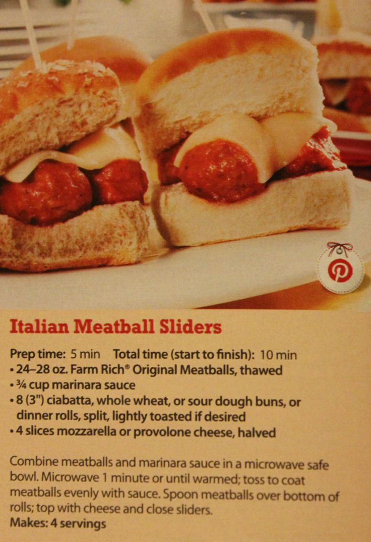 Italian Meatball Sliders | Recipes - Appetizers & Dips | Pinterest