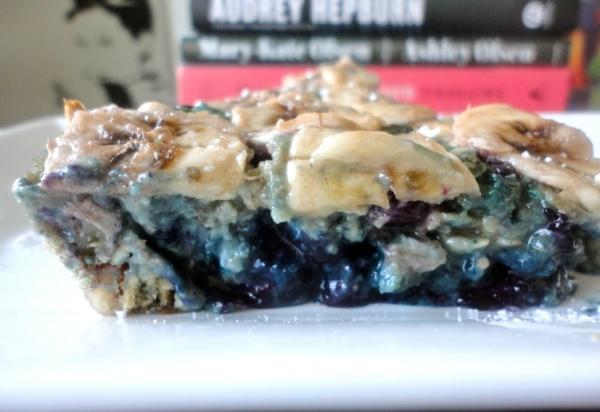 Overnight Baked Blueberry Oatmeal Cake | Bakers dozen | Pinterest