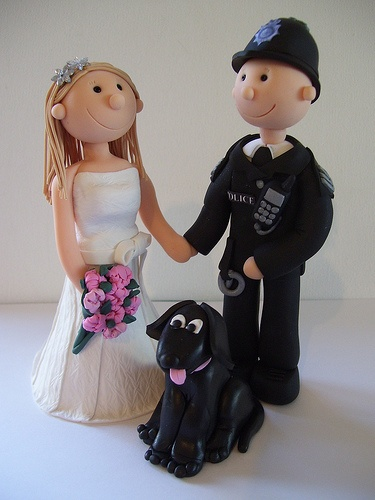 Example of Fimo personalized topper for cake.
