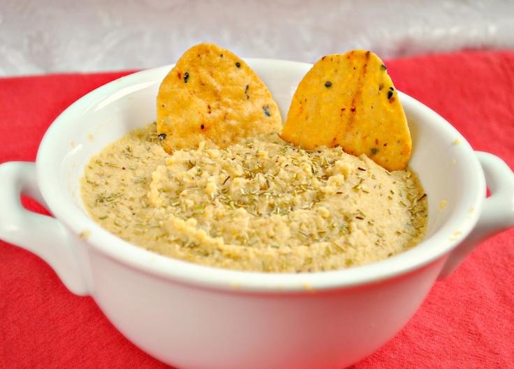 good hummus recipe! Lemon, Garlic & Rosemary Hummus