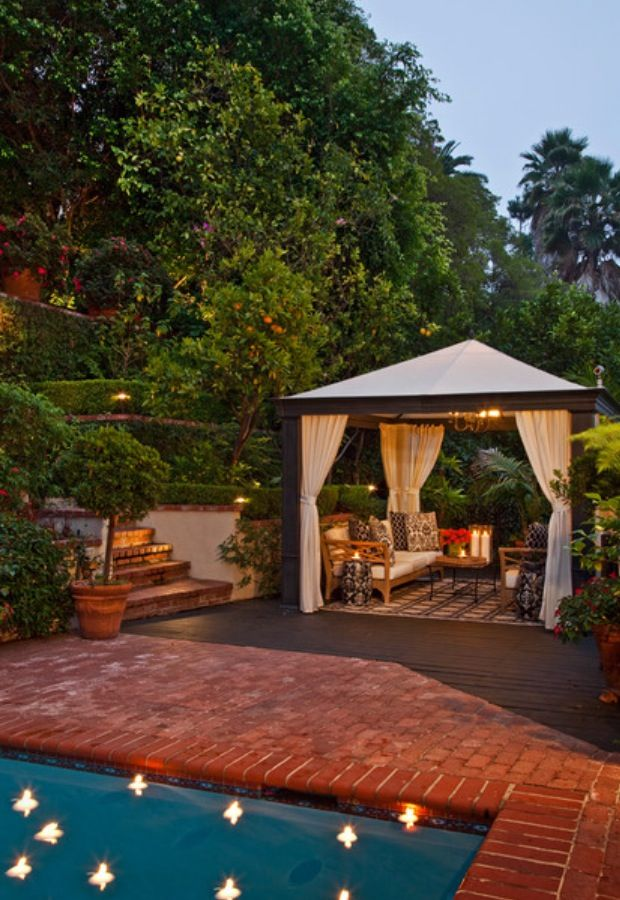 Backyard Patio Privacy Ideas : Backyard privacy  Outdoor living and landscape ideas  Pinterest