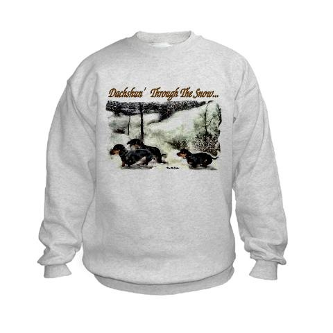 Dachshund Christmas Gifts Dachshund Kids Sweatshirt by CafePress ...