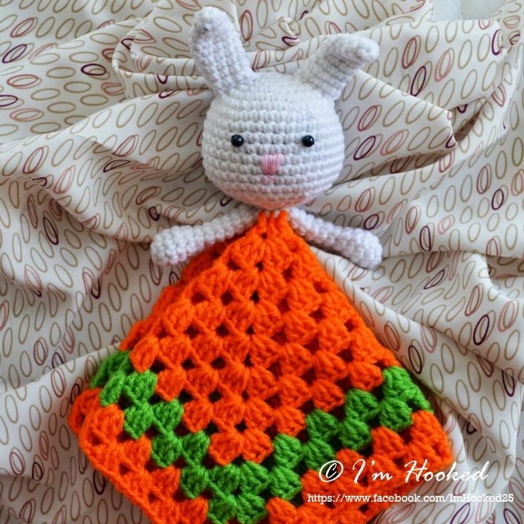 Free Crochet Patterns For Lovey Blankets : crochet lovey, free pattern _ rabbit Crochet Pinterest