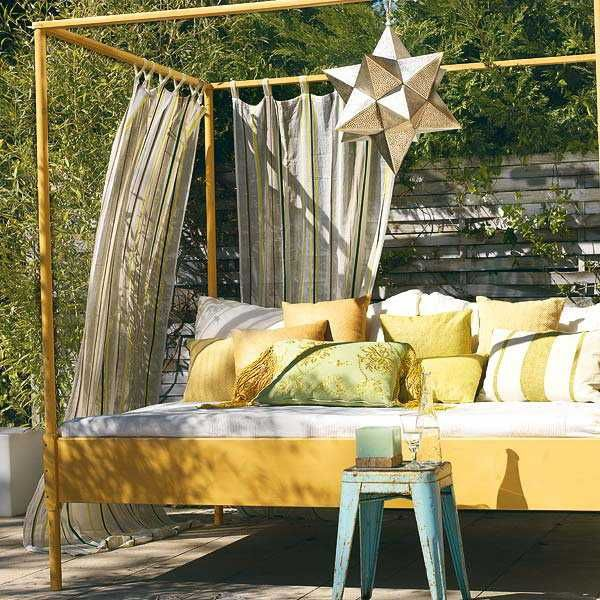 Outside Canopy Ideas : 20 DIY Outdoor Curtains, Sunshades and Canopy Designs for Summer Deco