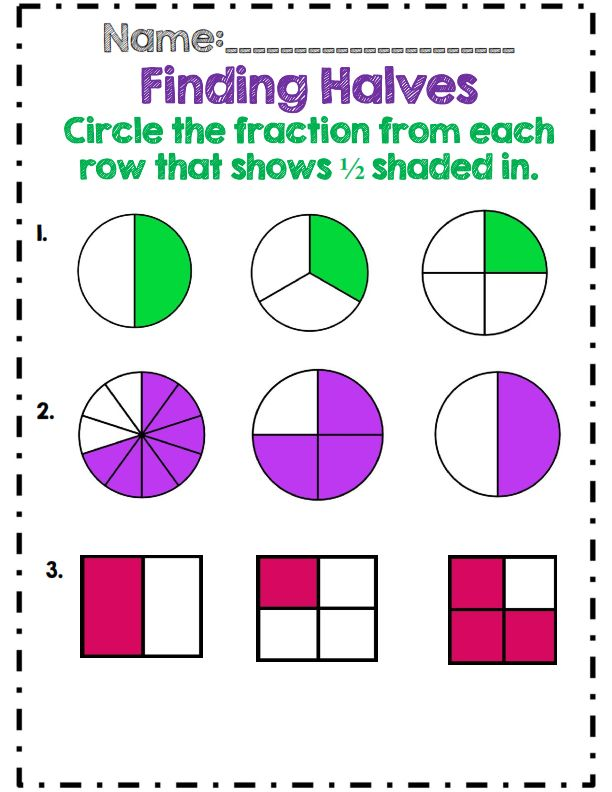 First  Second Grade Fractions Unit  Common Core Aligned