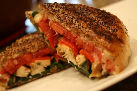 Roasted Red Pepper and Chicken Panini | FoOd 4 mE | Pinterest