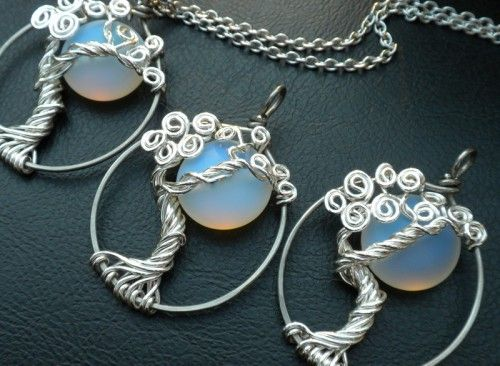 Moon in a tree #tree of life jewelry