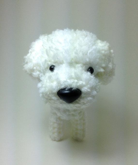 Amigurumi Dog Fur : Bichon Frise Amigurumi Dog Stuffed Animal Crochet Dog Dog ...