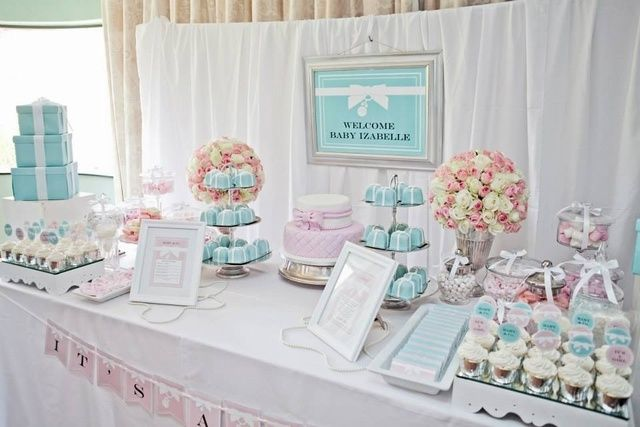 tiffany co baby shower party ideas photo 2 of 49 catch my party