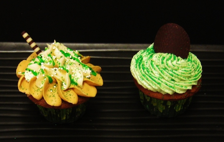 ... Bailey's Irish Cream liqueur cream cheese frosting. And mint chocolate