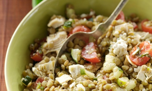 Lentil Turkey Salad with Feta Cheese | Recipe