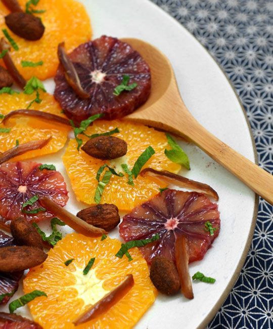 Orange, Almond & Date Salad | Recipes :: Salads | Pinterest
