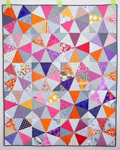 Kaleidoscope quilt by Erica of KitchenTableQuilting for June's do. Good Stitches .