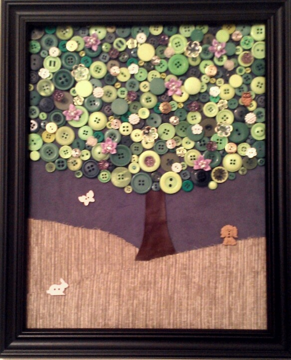 Spring button tree, made by Tawny Smith