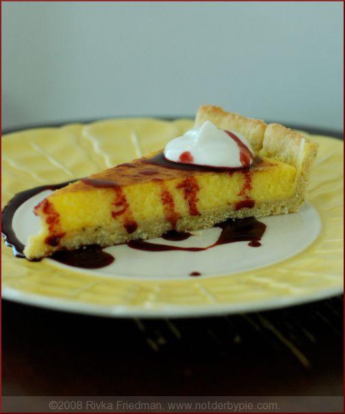 Lemon sabayon tart with pine nut crust :) elegant and easy!