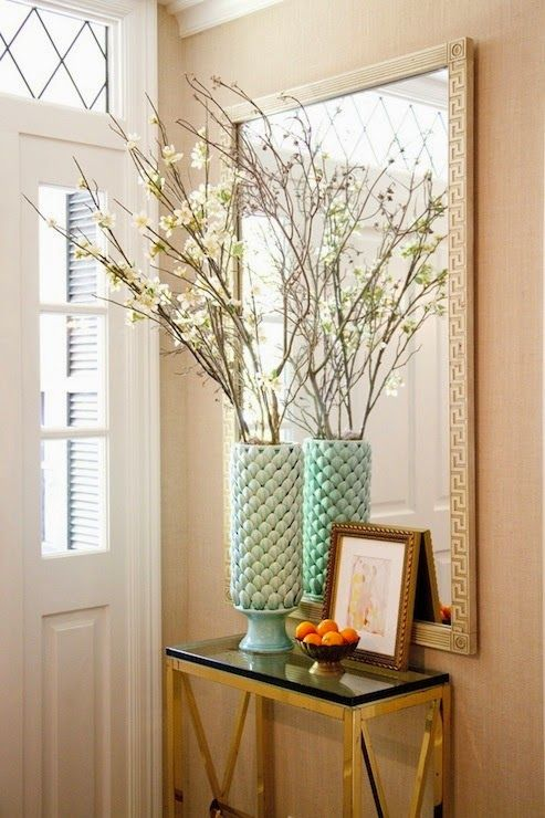 Small Mirrored Foyer Table : Entryway small table and mirror for the home pinterest