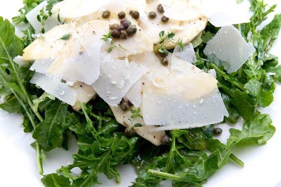 Celery Root & Rocket Salad with Lemon, Capers & Parmesan   Recipe