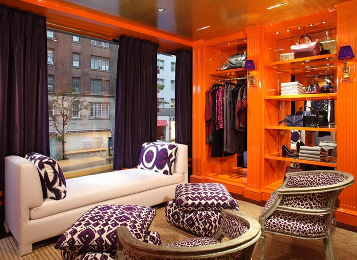 ORANGE AND PURPLE IN A SOPHISTICATED WAY.
