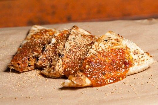 Sweet Chili Chicken Quesadilla, Kogi BBQ.