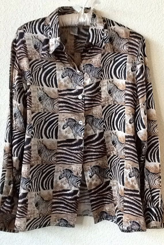 Zebra Print Silk Blouse 11