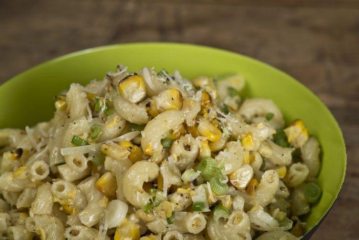 Grilled Corn Pesto Macaroni Salad Recipe — Dishmaps