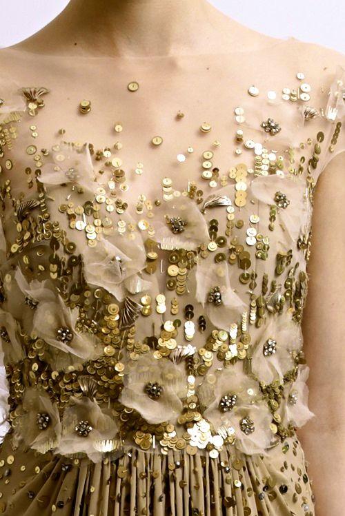 #wedding #dress #fashion #gold #glam #sequins