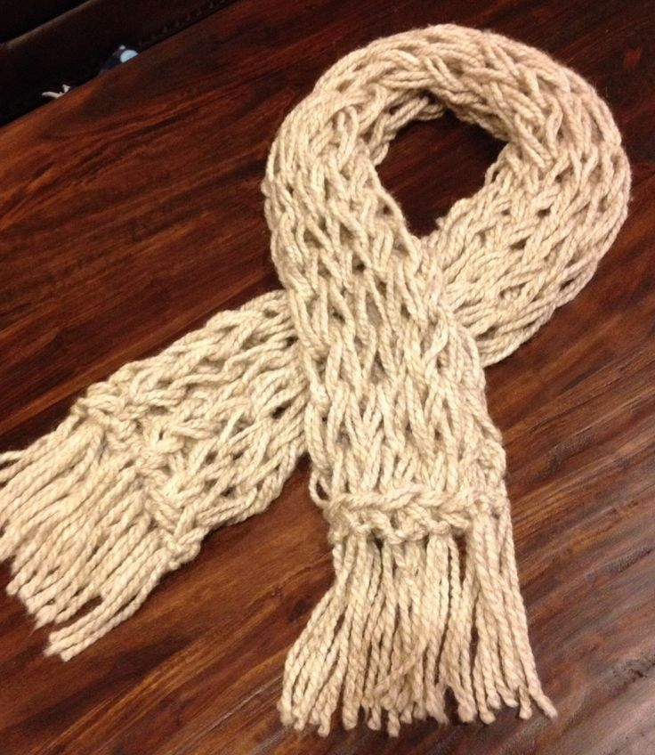 Ivory Arm Knitted Scarf