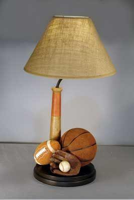 Vintage Sports Lamp Boys New Bedroom Ideas Pinterest