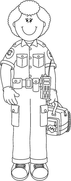 paramedic coloring page - photo #16