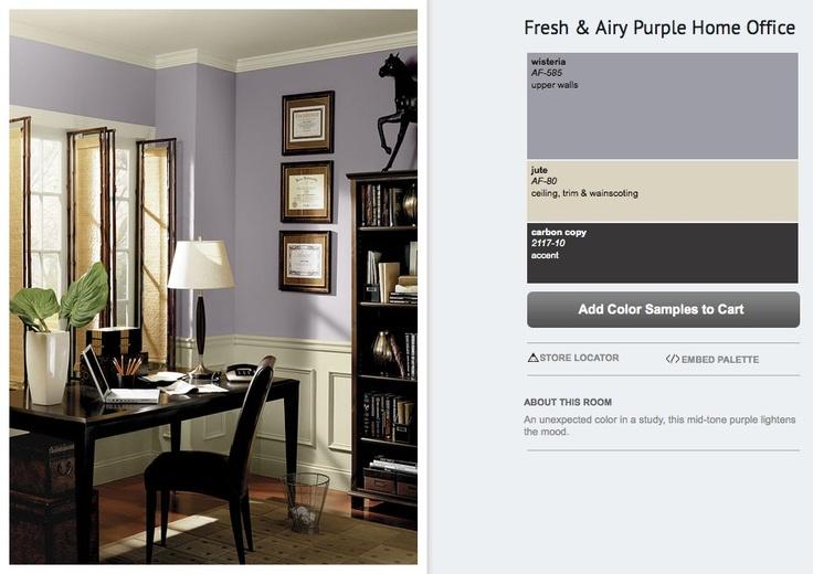Benjamin Moore Purple Gray : Lavender paint palette with quot wisteria lilac purple jute