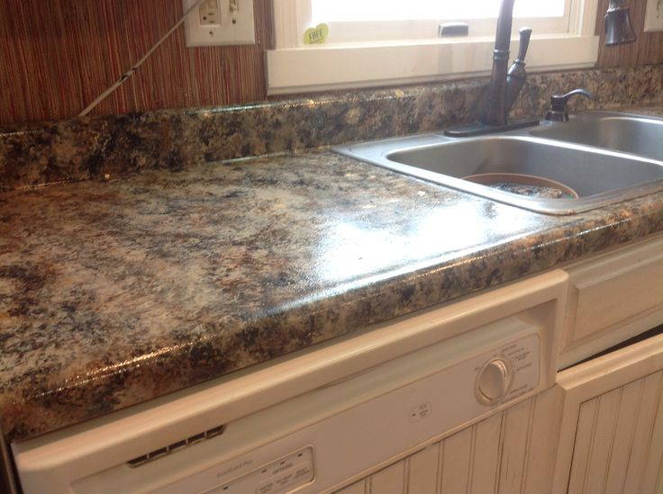 Finished giani faux granite paint my giani faux granite for Giani granite