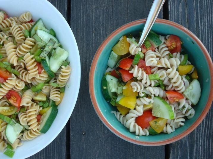 garden pasta salad | Vegetarian/Allergy free dishes | Pinterest