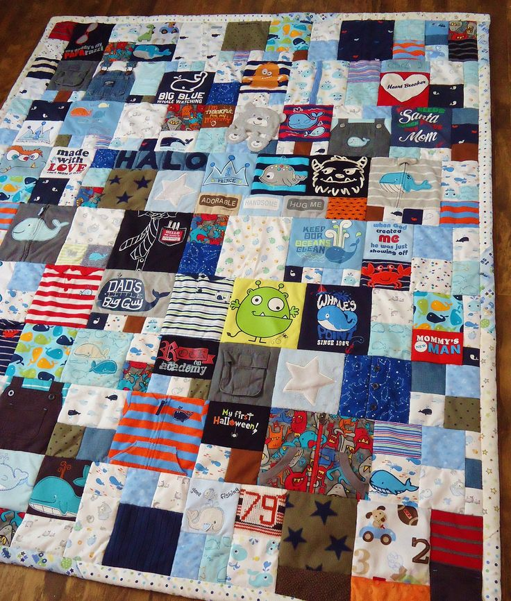 Baby clothes quilt This is an incredible idea and I want