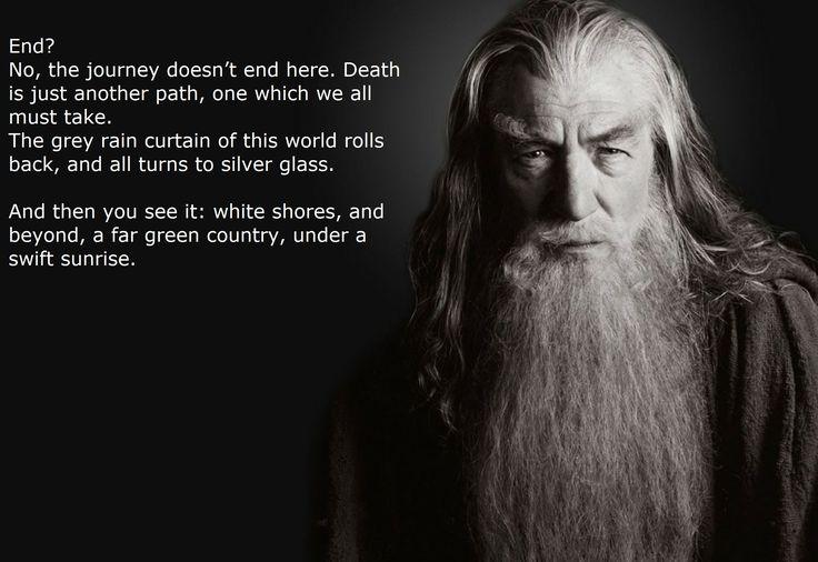Image result for tolkien quote on death