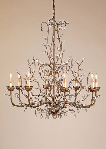I want one! Layla Grayce -  Currey & Compay crystal bud chandelier $2790.00