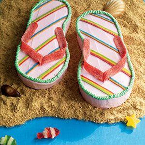 Decorated Cakes - flip flops